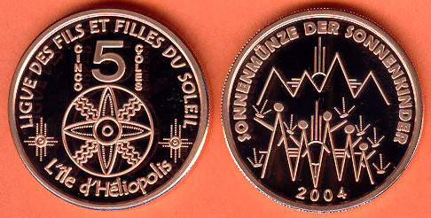 2004 Héliopolis 5 Çoles coin