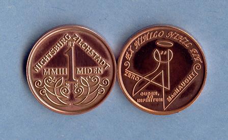 2003 Nichtsburg et Zilchstadt 1 Miden coin