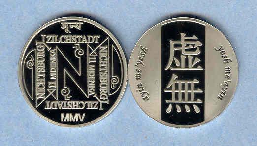 2005 Nichtsburg y Zilchstadt 11 Midenika coin
