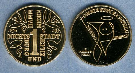 2007 Nichtsburg und Zilchstadt 1 Miden coin